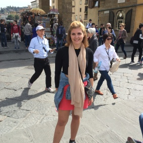 In Florence near the Ponte de Vecchio